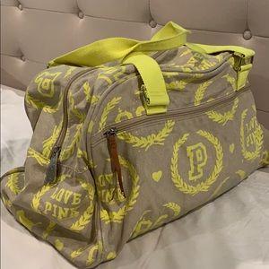 Pink love Victoria's Secret duffle bag